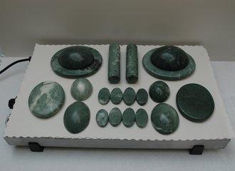 Warmhoudplaat (hotstones, jade)