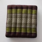 Kapok-zitkussen-groen-bruin