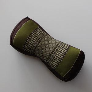 Kapok kussen groen/bruin