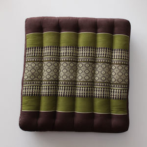 Kapok zitkussen groen-bruin