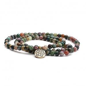 Mala armband/ketting - Indian Agaat