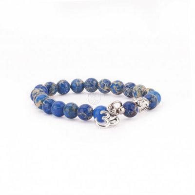 Mala armband Jaspis blauw