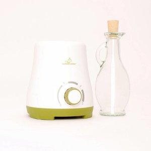 olieverwarmer met glazen karaf