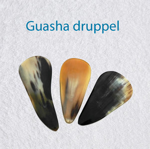 Guasha schraper waterdruppel