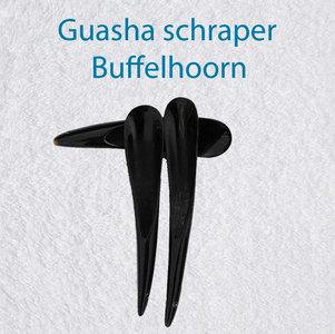 Guasha schraper zwarte buffelhoorn