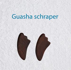 Guasha schraper bruine buffelhoorn